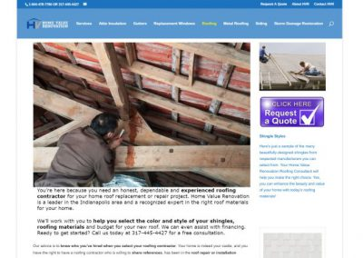 Indianapolis, IN roofing company wanted to generate better leads than they were getting on