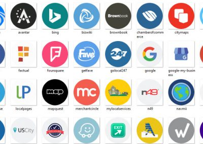 image shows internet search directory icons for digital marketing campaigns by digital business services in winterville nc