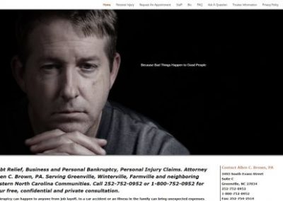 image show screenshot of bankruptcy attorney website designed by Digital Business Services of Myrtle Beach SC