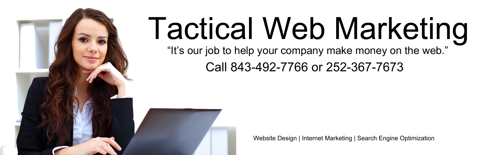 image shows Digital Business Services' logo and slogan for internet marketing services