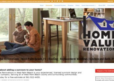 image shows website design for Home Value Renovations by Digital Business Services Myrtle Beach SC