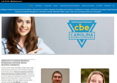 image shows website design for Carolina Business Enterprises by Digital Business Services Myrtle Beach SC