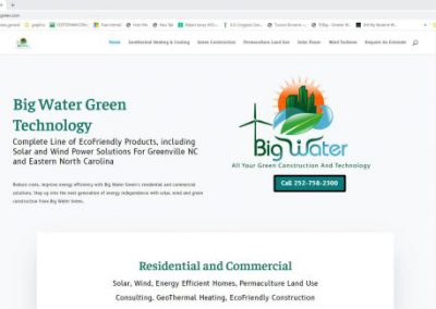 image shows home web page for ABC Construction Building on a website built by Digital Business Services in Myrtle Beach, SC. Services include web design, SEO, Google Pay Per Click, social media and digital streaming advertising.